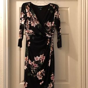 Ralph Lauren V-necked Wrap Dress. Stretchy Size 10